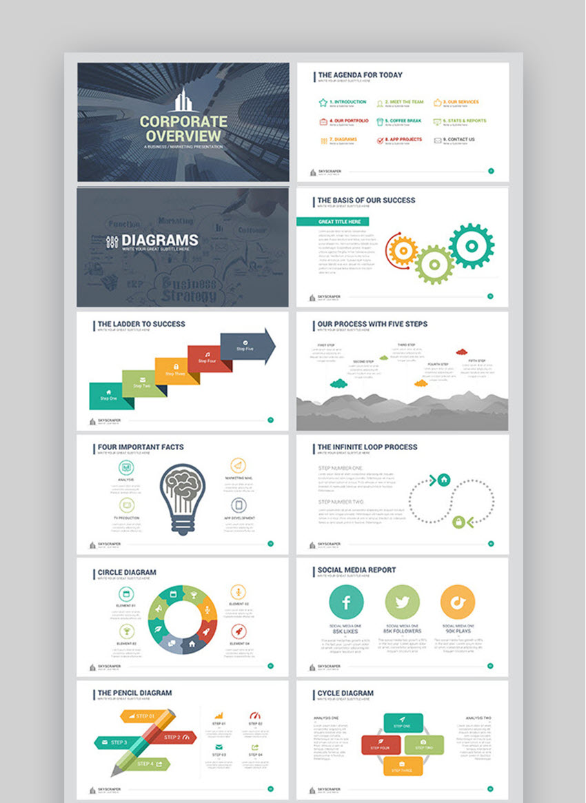 hight resolution of corporate overview powerpoint template