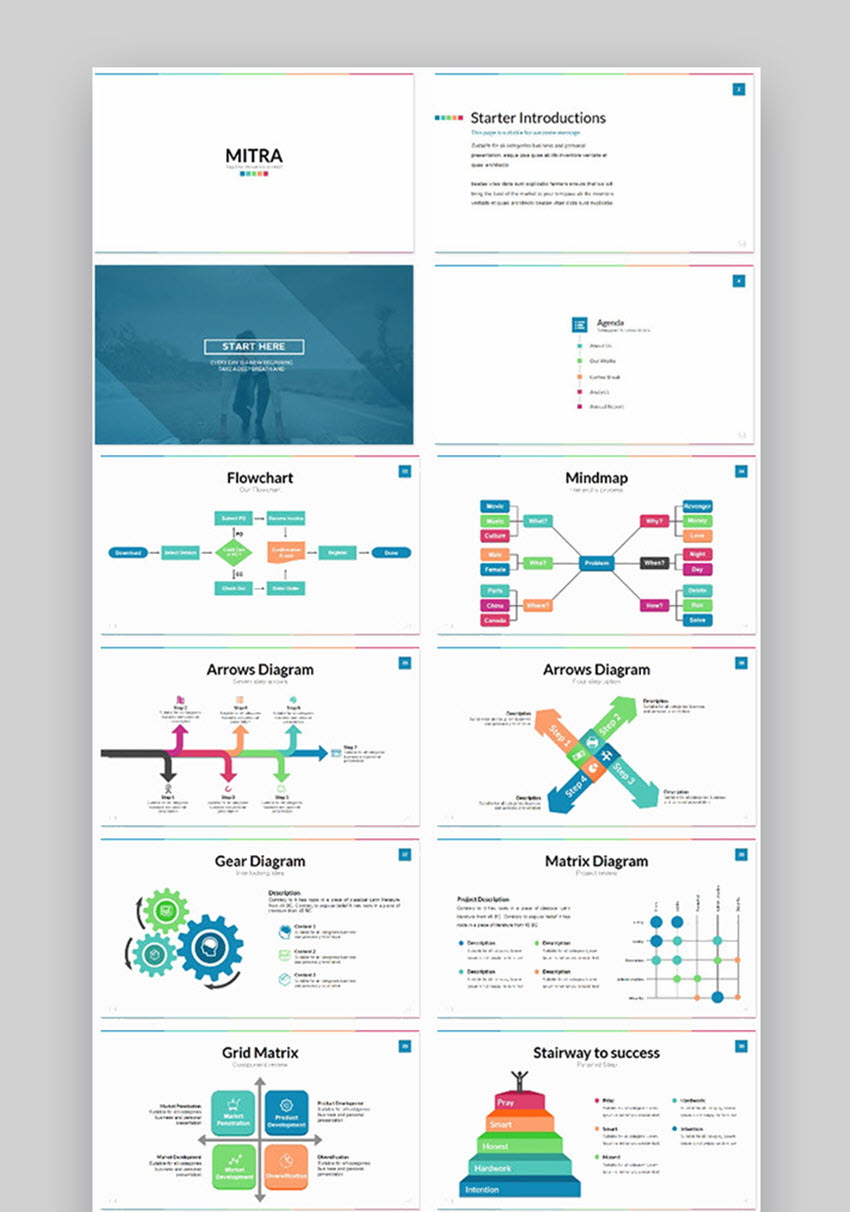 hight resolution of mitra powerpoint flowchart templates