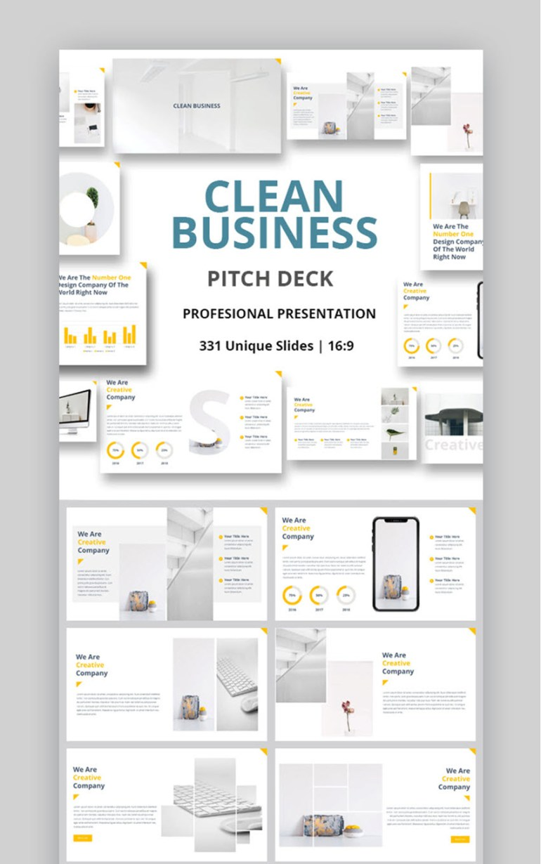 Clean Business Pitch Deck