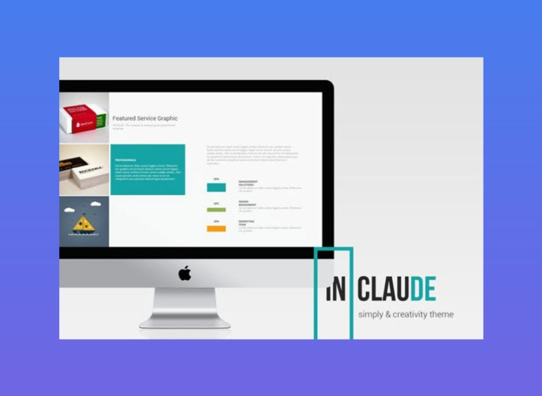 clean business template