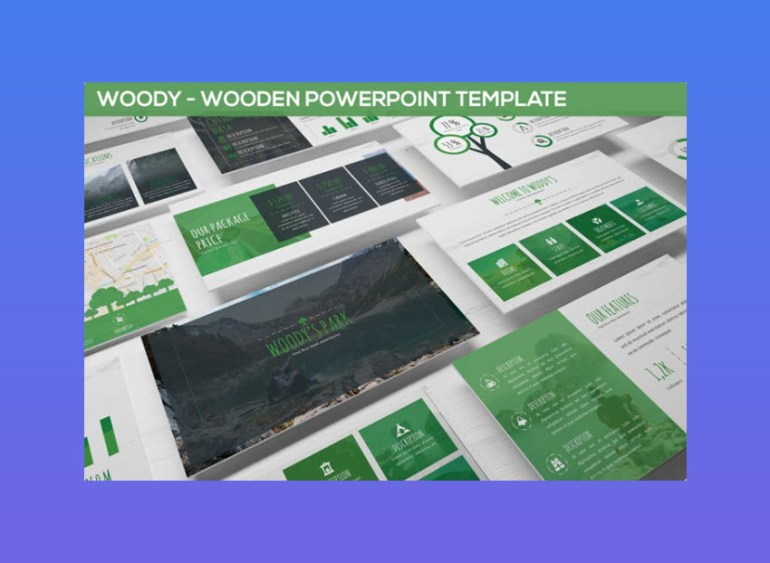 Wooden PowerPoint Template