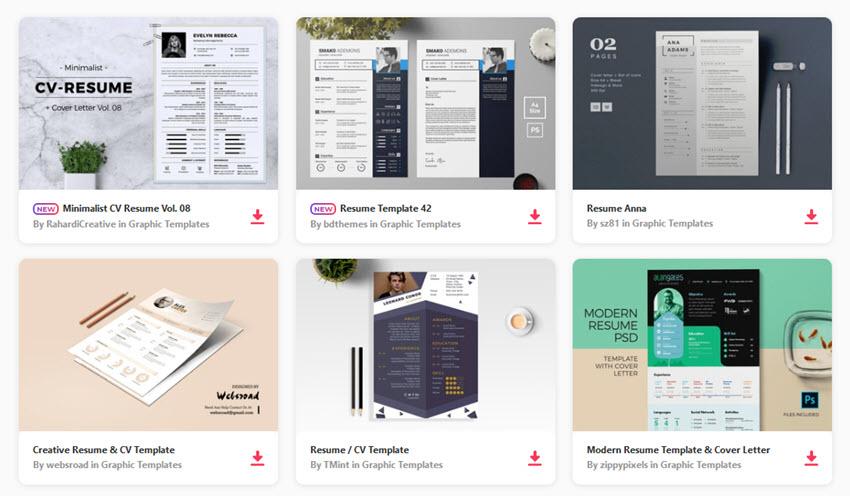 20 Modern Resume Templates With Clean Elegant CV Designs
