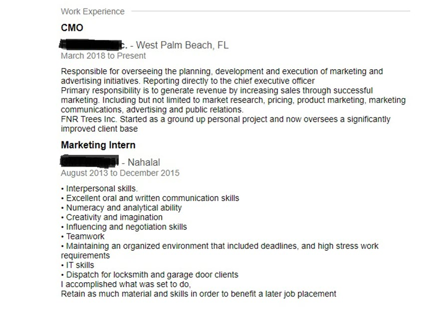 job title vs resume
