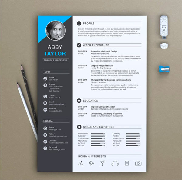 11 Creative Resume DesignCV Tips With Template Examples for 2019