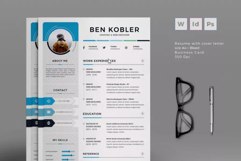 create a resume in Word with the Printed Professional Resume template