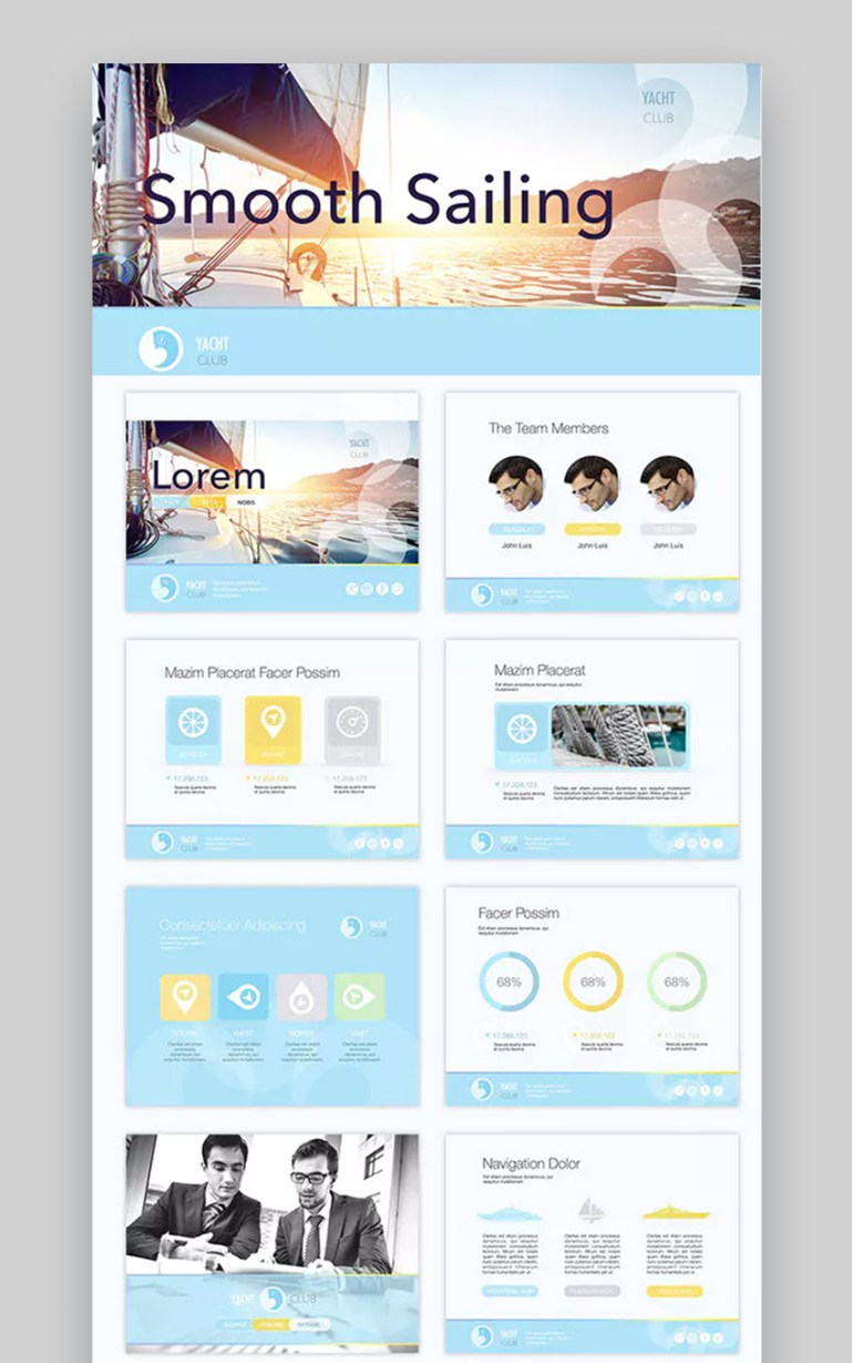 Smooth Sailing Sports PowerPoint Template