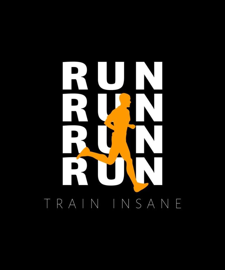 running t-shirt template design