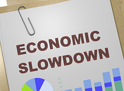economic slowdown graph