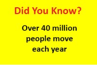 40 million people move