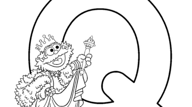 The Letter Q Coloring Page  Kids Coloring  PBS KIDS for Parents