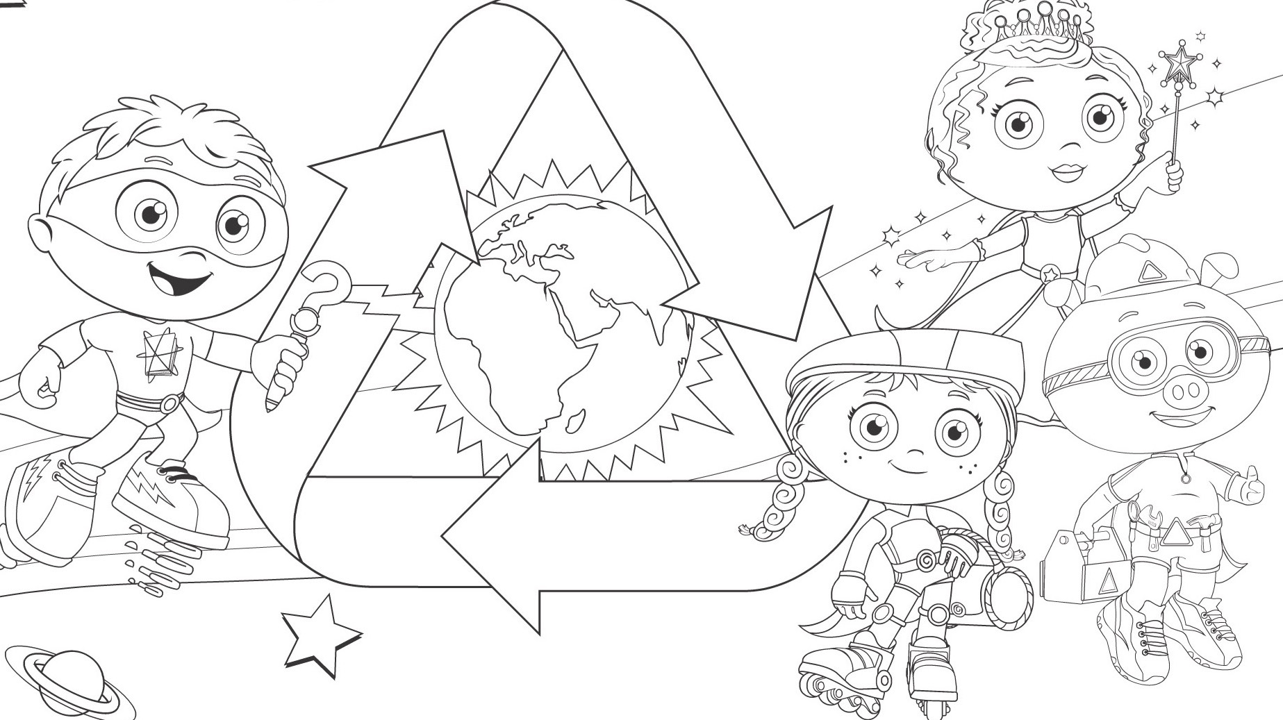 Earth Day Coloring Page Kids Coloring Pages Pbs Kids For Parents