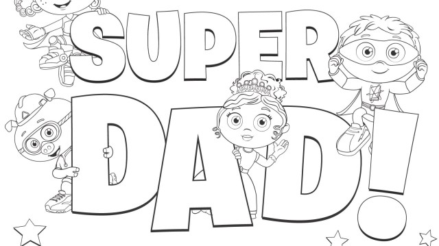 Super Dad! Coloring Page  Kids Coloring Pages  PBS KIDS for Parents