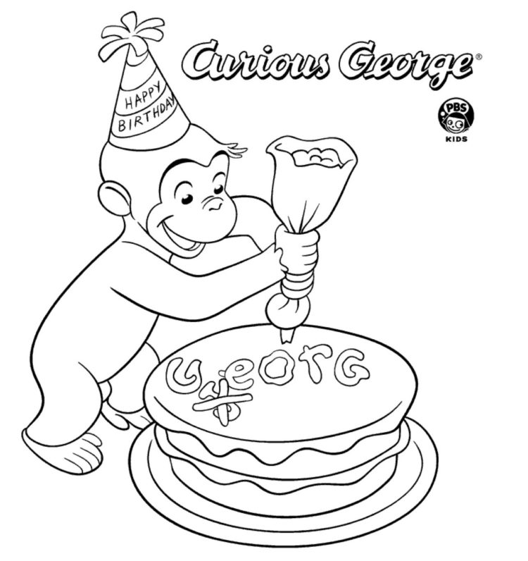 Birthday Cake Coloring Page Kids Coloring Pbs Kids For Parents