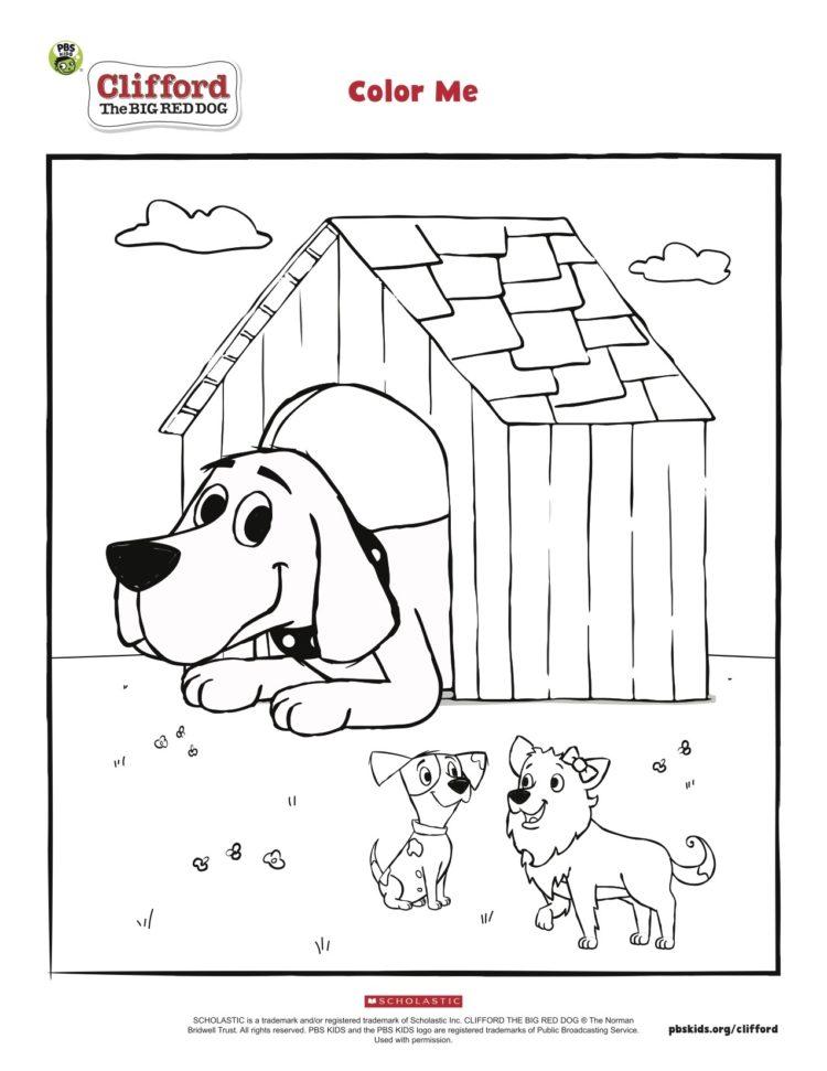 Cliford Coloring Pages : cliford, coloring, pages, Clifford's, Doghouse, Coloring, Kids…, Parents