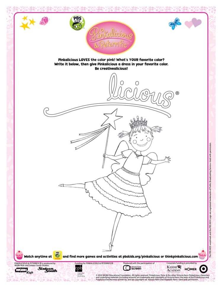 Pinkalicious Coloring Page Kids Coloring Pbs Kids For Parents