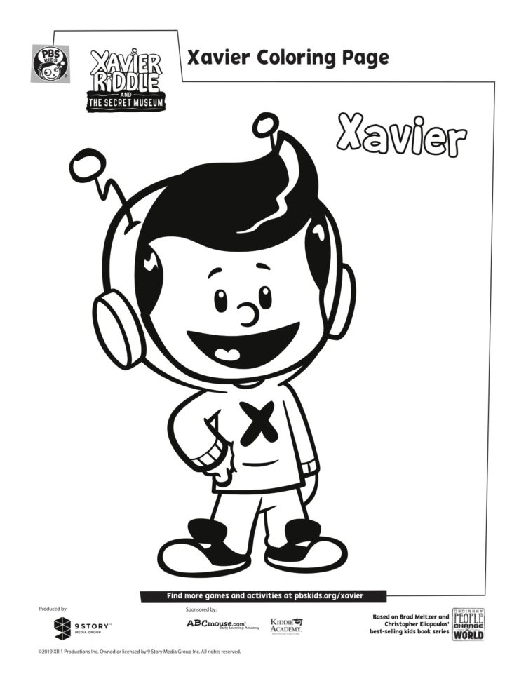 Pbs Kids Coloring Pages : coloring, pages, Xavier, Coloring, Pages, Parents
