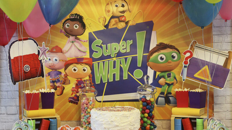 super why birthday party pbs kids for