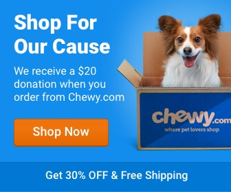 Order your Pet Food at Chewy.com and Faithful Friends Animal Sanctuary will get a $20 donation!