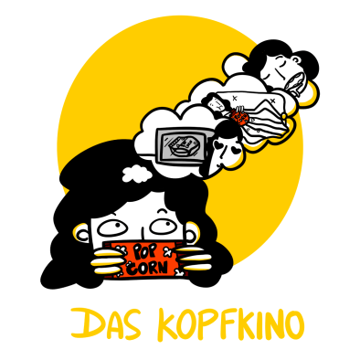 woman eating popcorn while daydreaming - Funny German words
