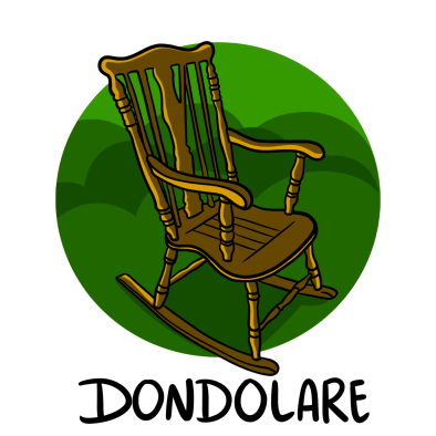 Illustration of rocking chair; allora and other italian words