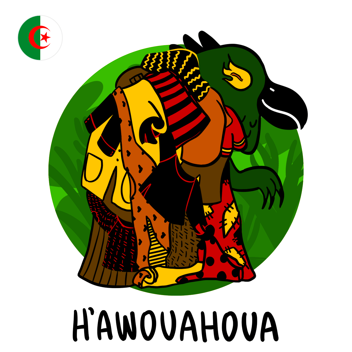 H'awouahoua, illustration of the Algeria boogeyman