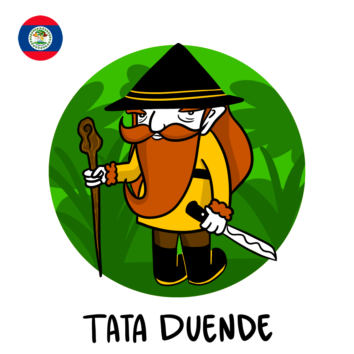 Tata Duende illustration, Belize boogeyman