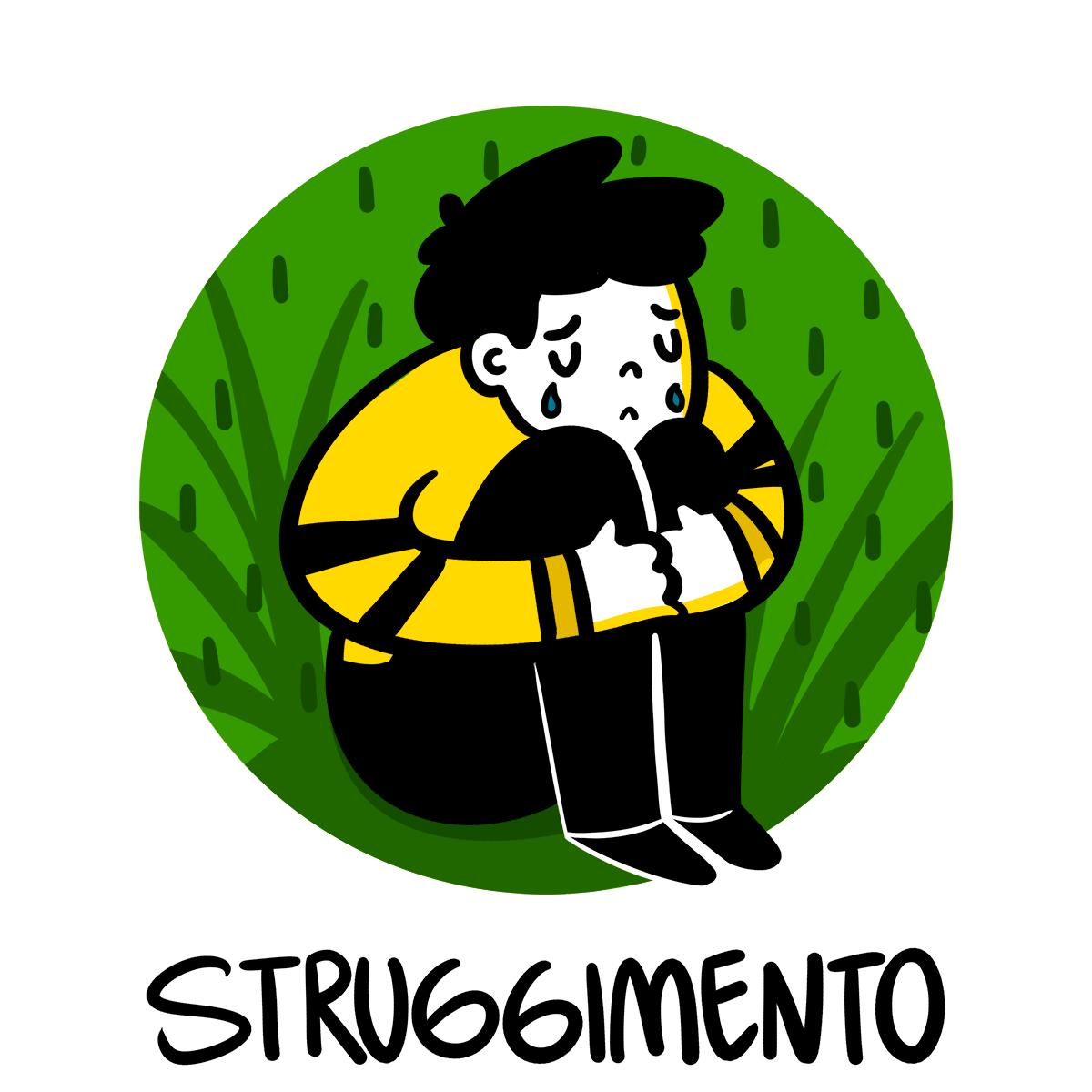 Le mot italien struggimento est très difficile à traduire en français