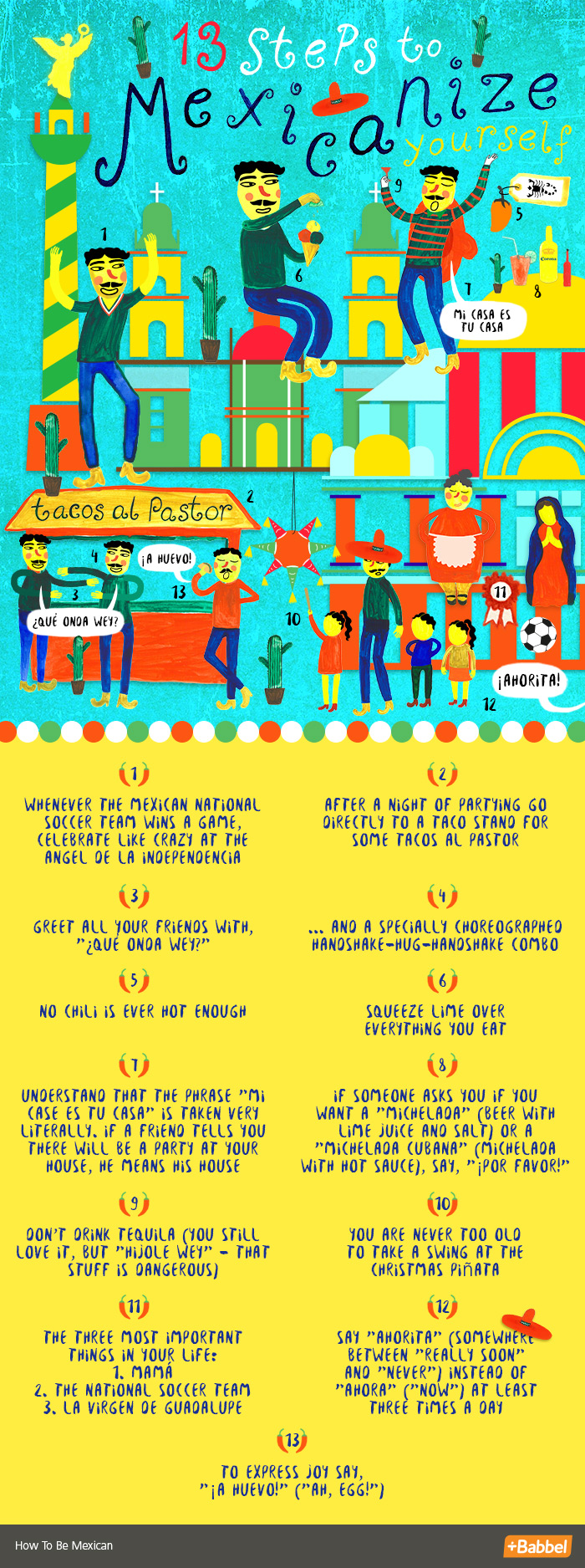 13 Steps To Mexicanize Yourself
