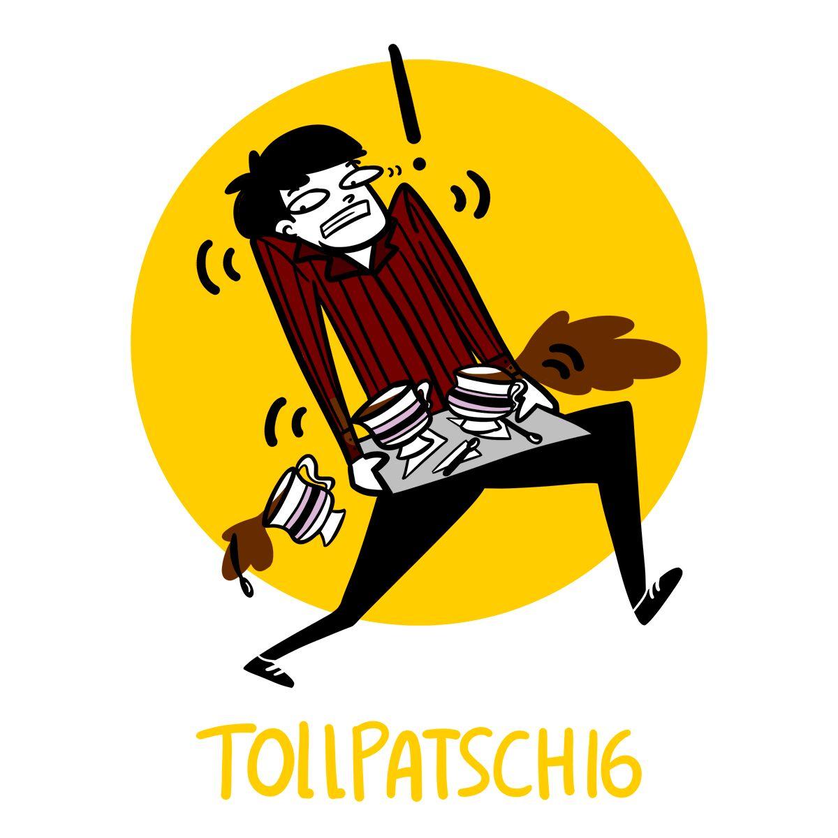 palavras em alemão tollpatschig