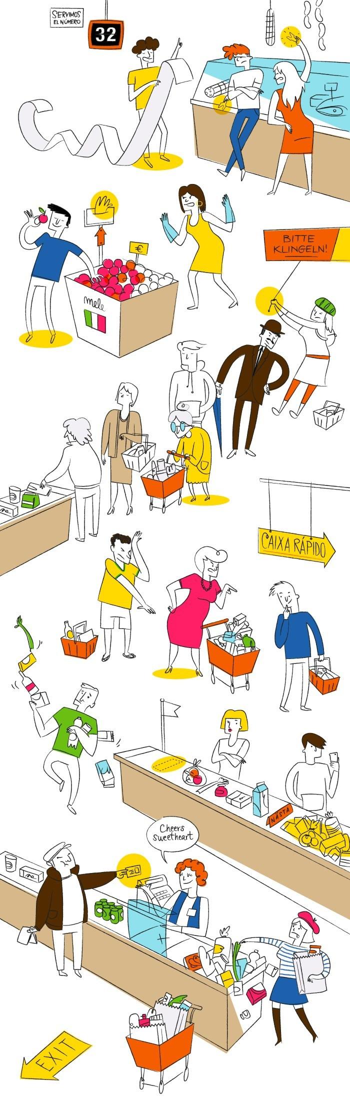 Évitez tous les pièges la prochaine fois que vous devrez aller au supermarché dans un pays étranger !