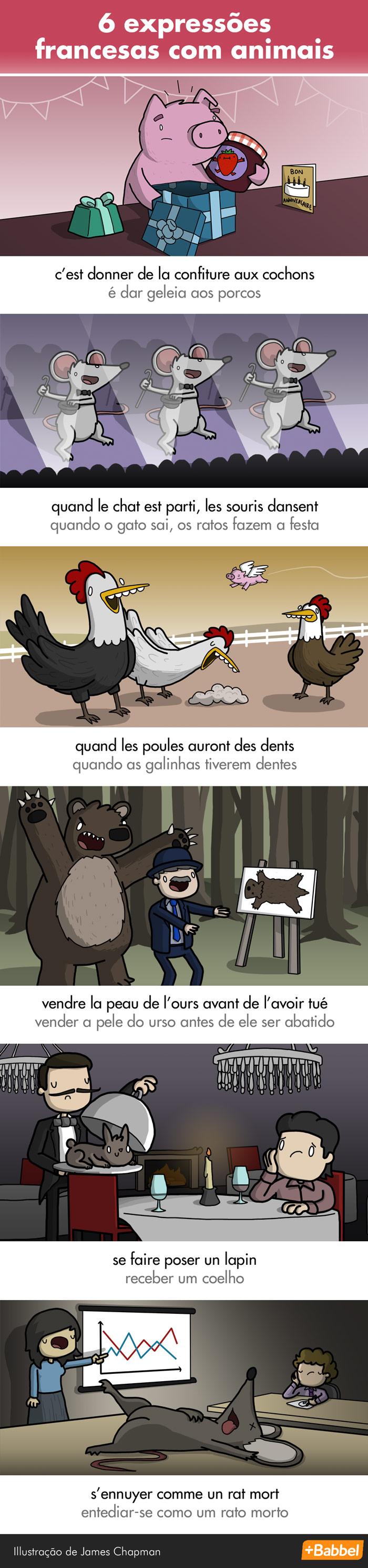 Uma bebida, ou eu mato o cachorro! Expressões francesas com animais