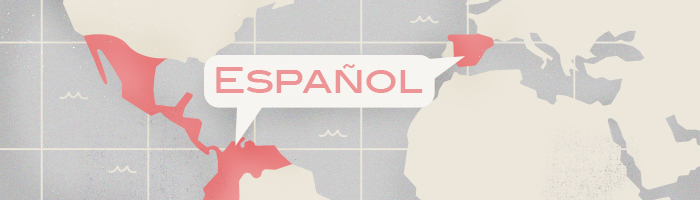 The most spoken languages: Spanish