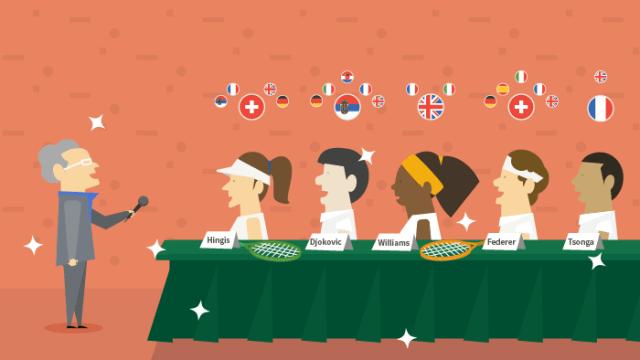 Quelles langues parlent les joueurs de tennis ?