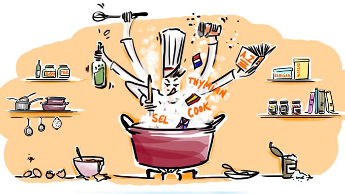 Comment apprendre une langue en cuisinant