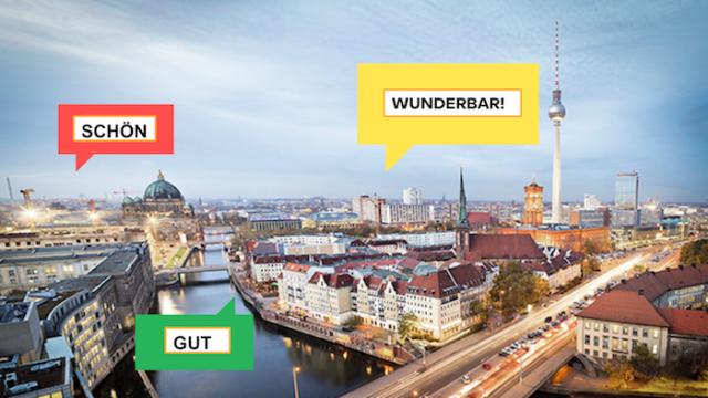 Palavras em alemão: Alguns elogios mais comuns, de *nicht schlecht* a *wunderbar*
