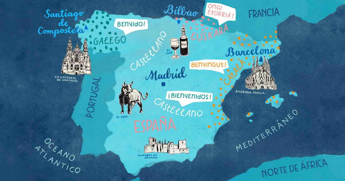 Languages In Spain Map.Which Languages Are Spoken In Spain Babbel Magazine
