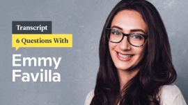 6 Questions With Former BuzzFeed Copy Chief Emmy Favilla: Transcript