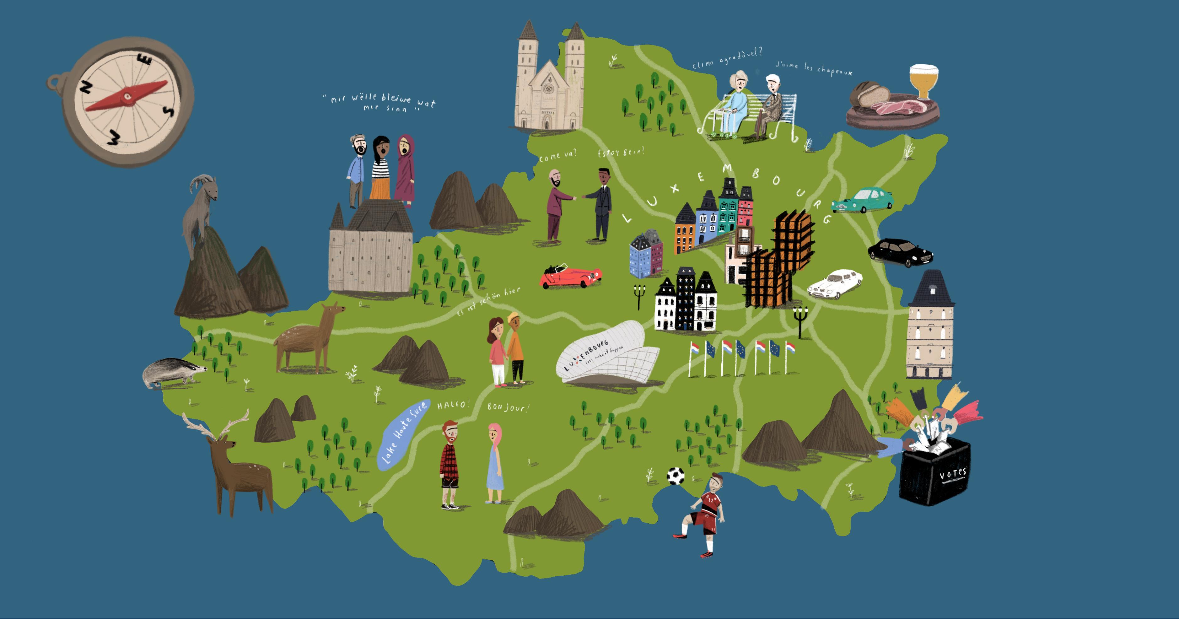 Welche Sprachen werden in Luxemburg gesprochen?