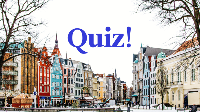 Quiz: How Much Do You Know About German?
