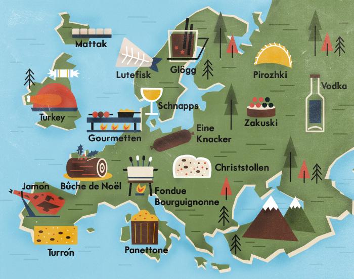 Las tradiciones de la cocina navideña en Europa