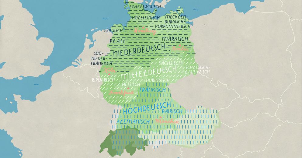 Una introducción a los dialectos alemanes (y al alemán estándar)