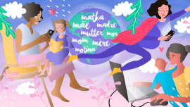 Ideias criativas para o Dia das Mães: porque dar um idioma de presente vai ser especial