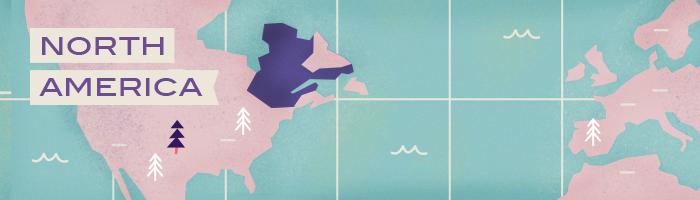 An illustration highlighting French-speaking Quebec | Babbel