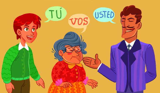vos usted em espanhol