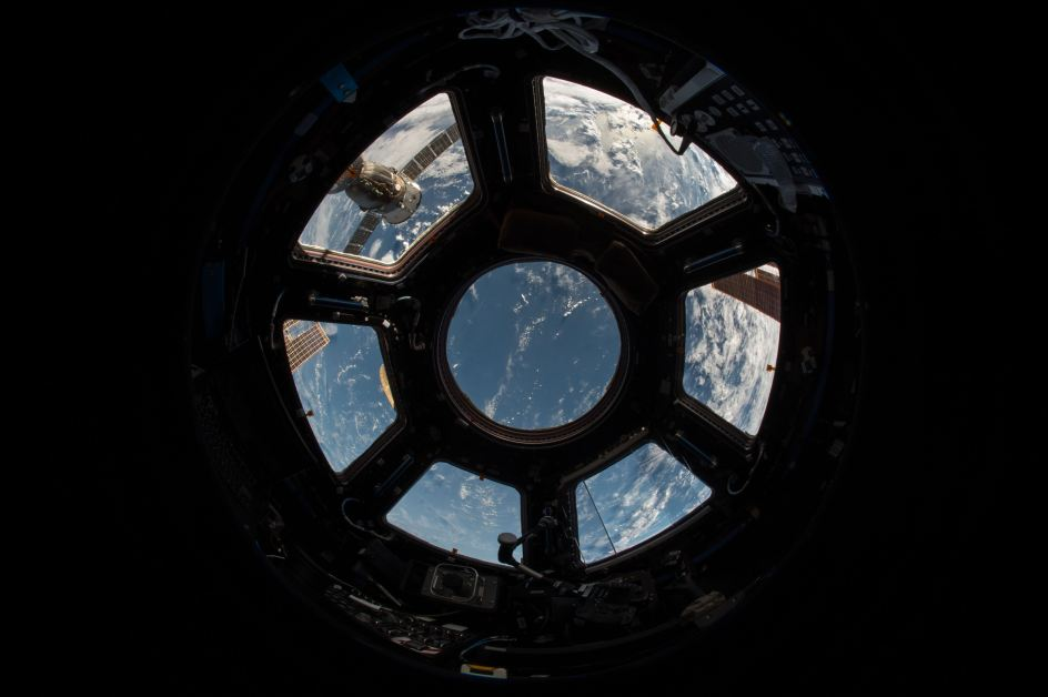 Space Word Origins: view of Earth from the space shuttle