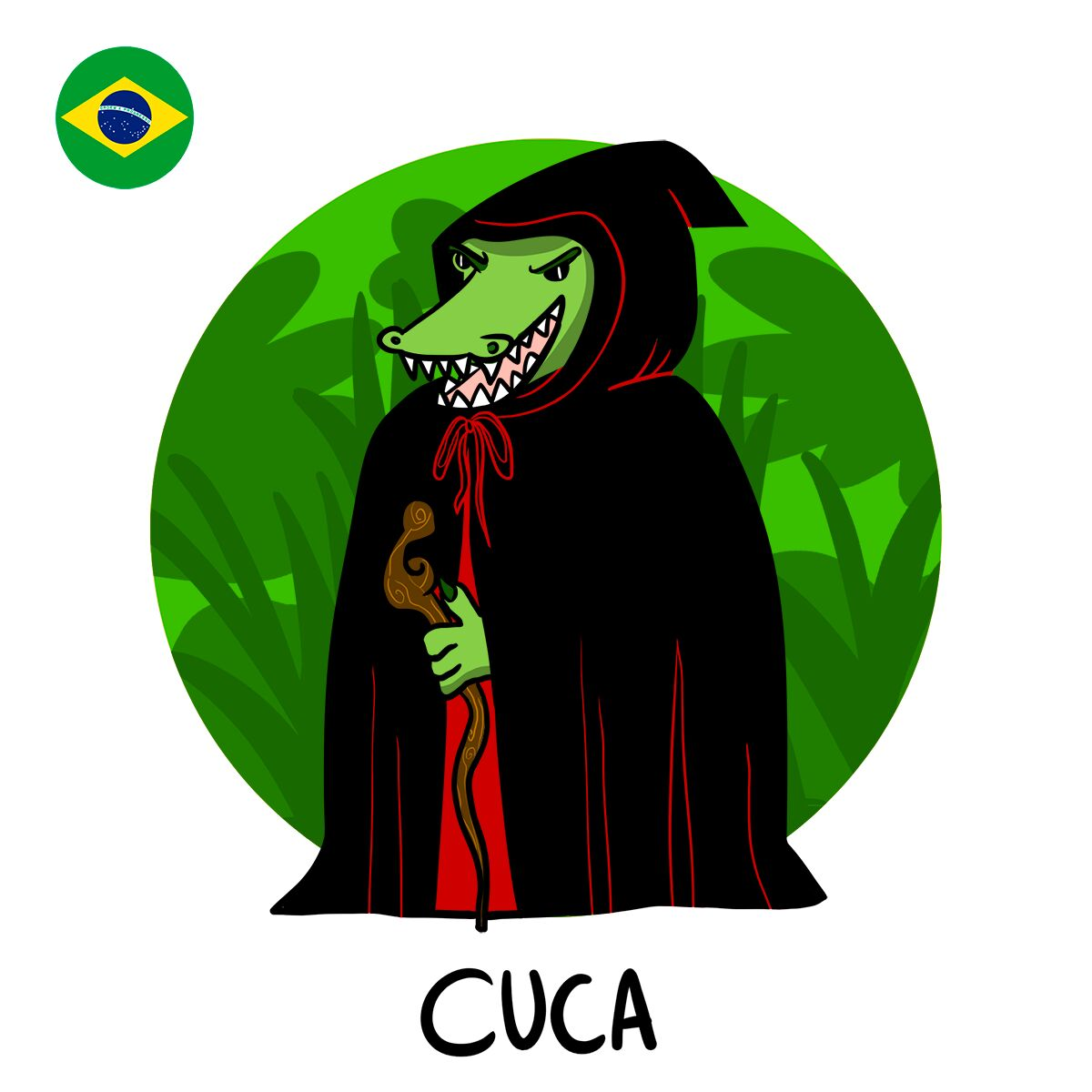 Le monstre brésilien Cuca ressemblerait presque à un crocodile