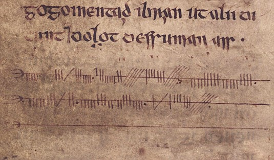 Ogham inscription from the 12th century