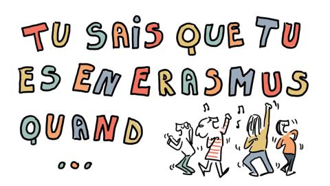 Le programme Erasmus… illustré !