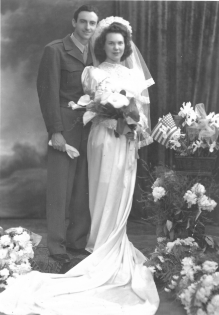 Alice and her husband on their wedding day