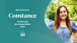 Rencontre avec Constance BELMONTET,  troisième du parrainage Babbel 2020